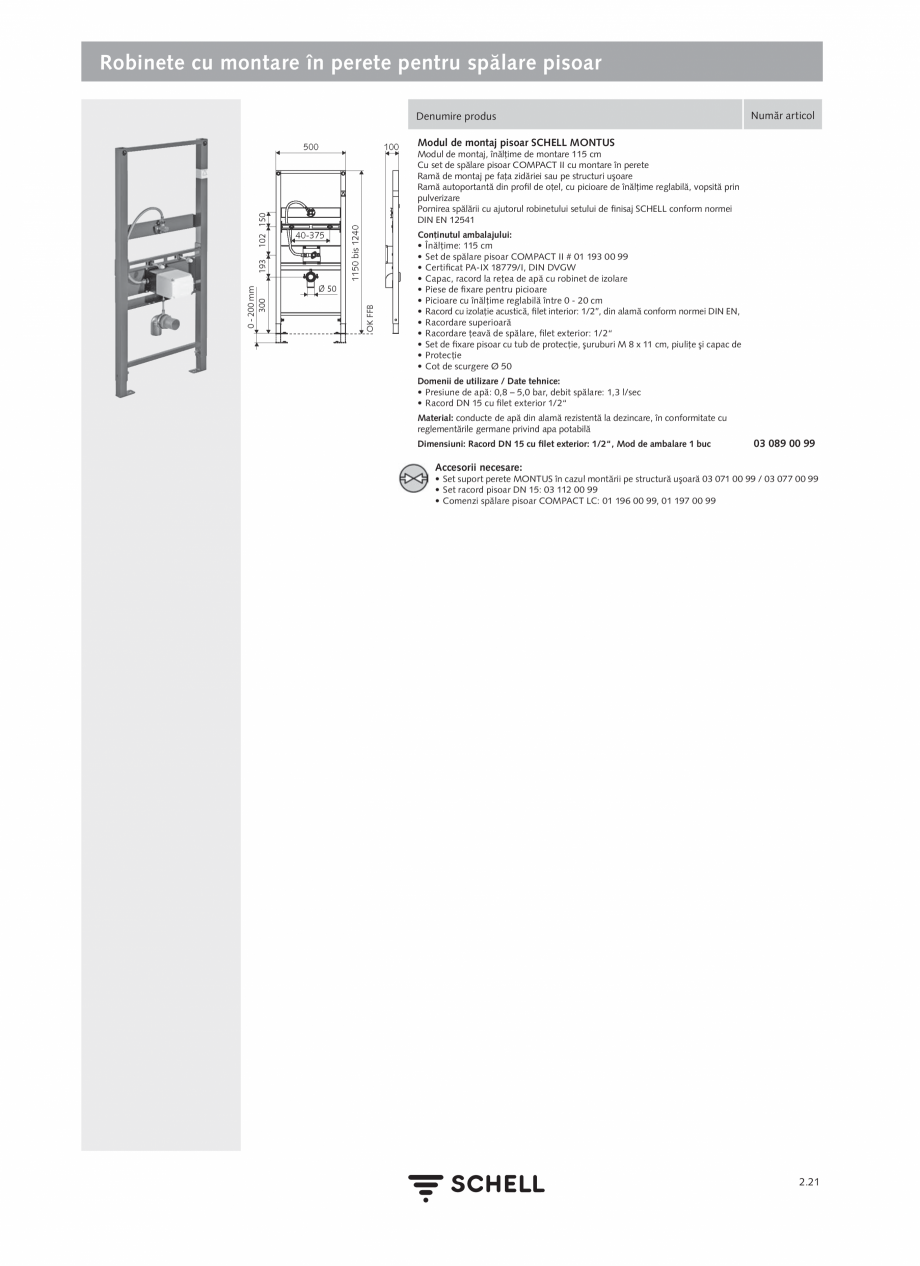 Pagina 125 - Schell - Catalog general - 2020-2021  Catalog, brosura Romana a apei stătute: 5 - 600 ...