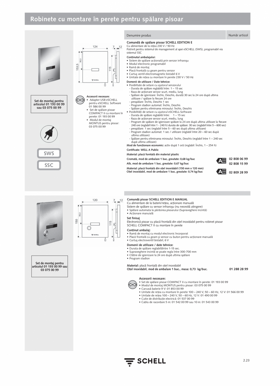 Pagina 127 - Schell - Catalog general - 2020-2021  Catalog, brosura Romana curăţare 60 sec •...