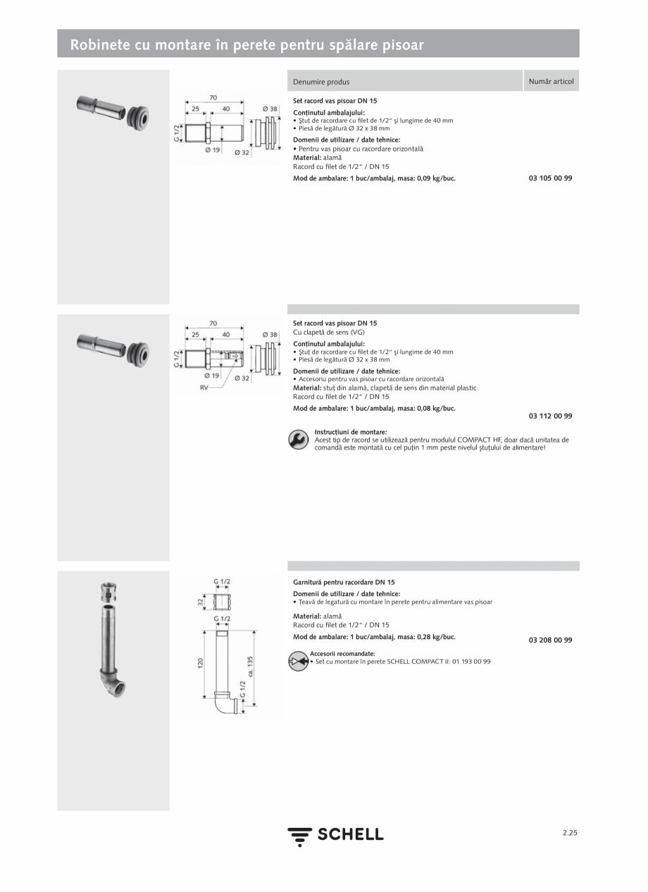 Pagina 129 - Schell - Catalog general - 2020-2021  Catalog, brosura Romana ă: 1 - 5 bar •...