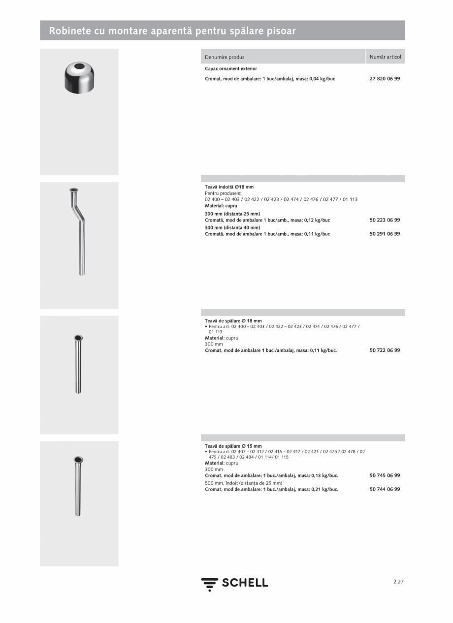 Pagina 131 - Schell - Catalog general - 2020-2021  Catalog, brosura Romana ate de reglaj a jetului...
