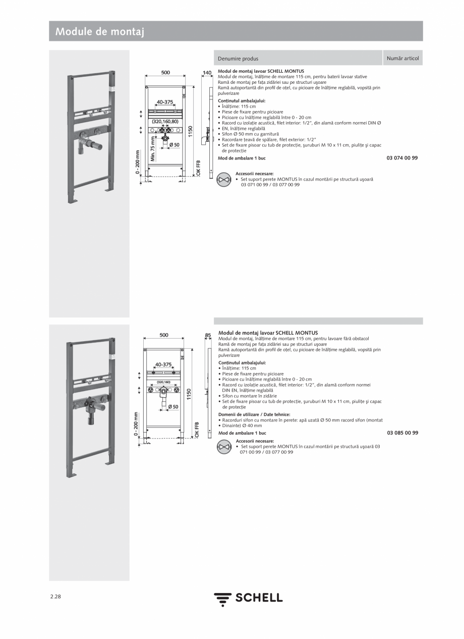Pagina 132 - Schell - Catalog general - 2020-2021  Catalog, brosura Romana ilizare / date tehnice:...