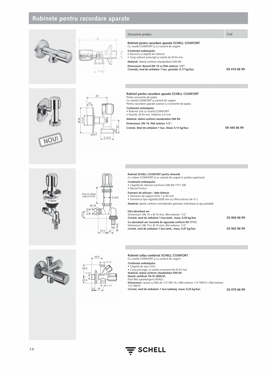 Pagina 146 - Schell - Catalog general - 2020-2021  Catalog, brosura Romana E ND-M (apă amestecată ...