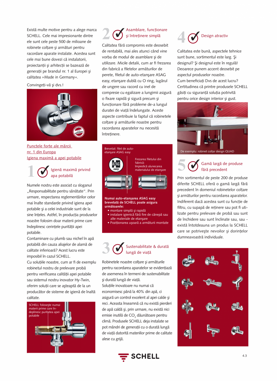 Pagina 161 - Schell - Catalog general - 2020-2021  Catalog, brosura Romana curăţare 60 sec •...