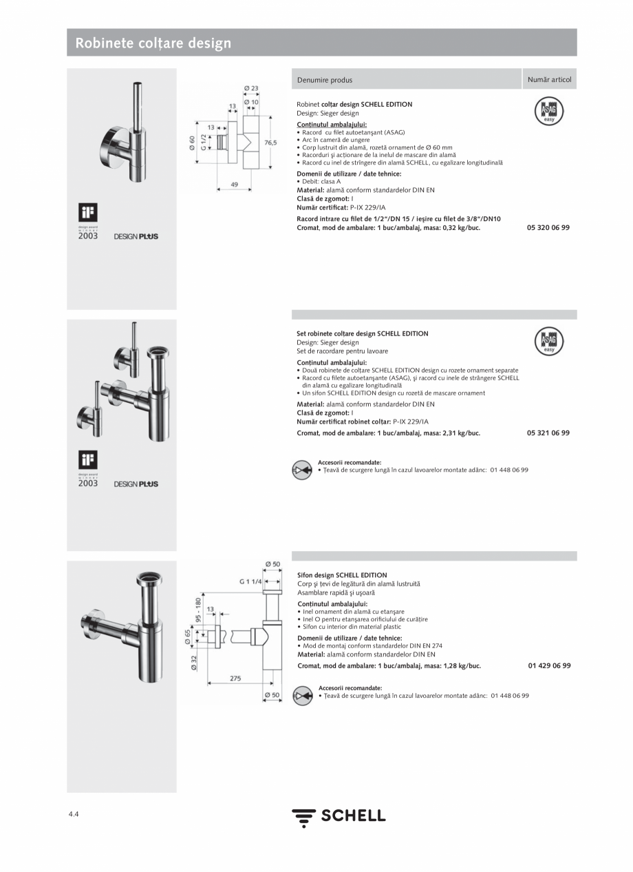Pagina 162 - Schell - Catalog general - 2020-2021  Catalog, brosura Romana net colţar cu filtru...