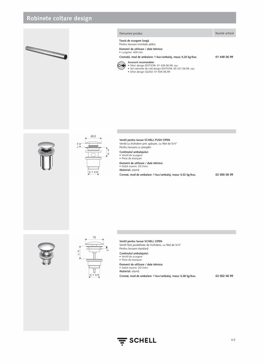 Pagina 163 - Schell - Catalog general - 2020-2021  Catalog, brosura Romana  99 • Robinet colţar...