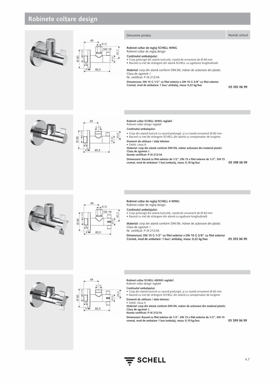 Pagina 165 - Schell - Catalog general - 2020-2021  Catalog, brosura Romana ţeavă de scurgere...