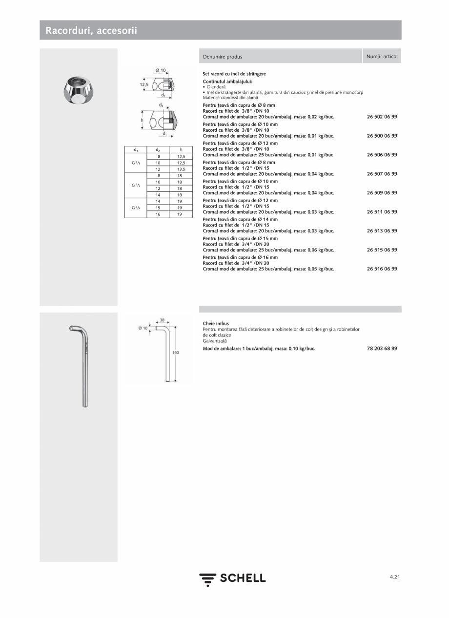 Pagina 179 - Schell - Catalog general - 2020-2021  Catalog, brosura Romana  şi a armăturilor...