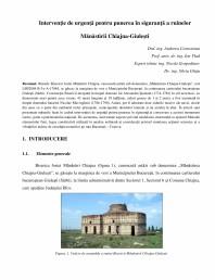 Interventie de urgenta pentru punerea in siguranta a ruinelor - Manastirea Chiajna-Giulesti