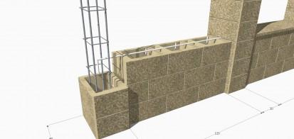 Detaliu de armare Spalat Gard din beton - detalii de proiect