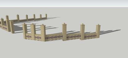 Detaliu gard - dreapta Spalat Gard din beton - detalii de proiect