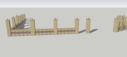 Detaliu gard - fata Spalat Gard din beton - detalii de proiect