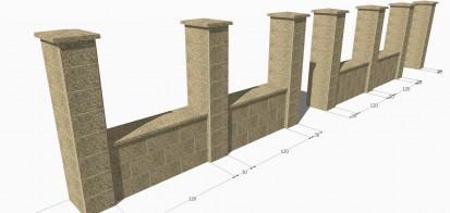 Detaliu gard spalat Spalat Gard din beton - detalii de proiect