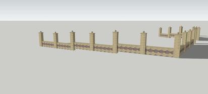Detaliu gard - lateral stanga Spalat Gard din beton - detalii de proiect