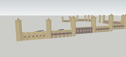 Modele panouri Spalat Gard din beton - detalii de proiect