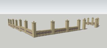 Detaliu gard - montaj capace Spalat Gard din beton - detalii de proiect