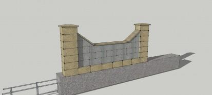 Detaliu gard  Spalat Gard din beton - detalii de proiect