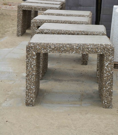 Mobilier urban / Mese din beton