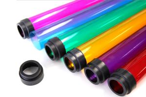 Tuburi acrilice Tuburile acrilice, de regula, se pot livra transparente, dar la comanda va putem oferi si tuburi opale, satinate, fluorescente sau colorate in masa.