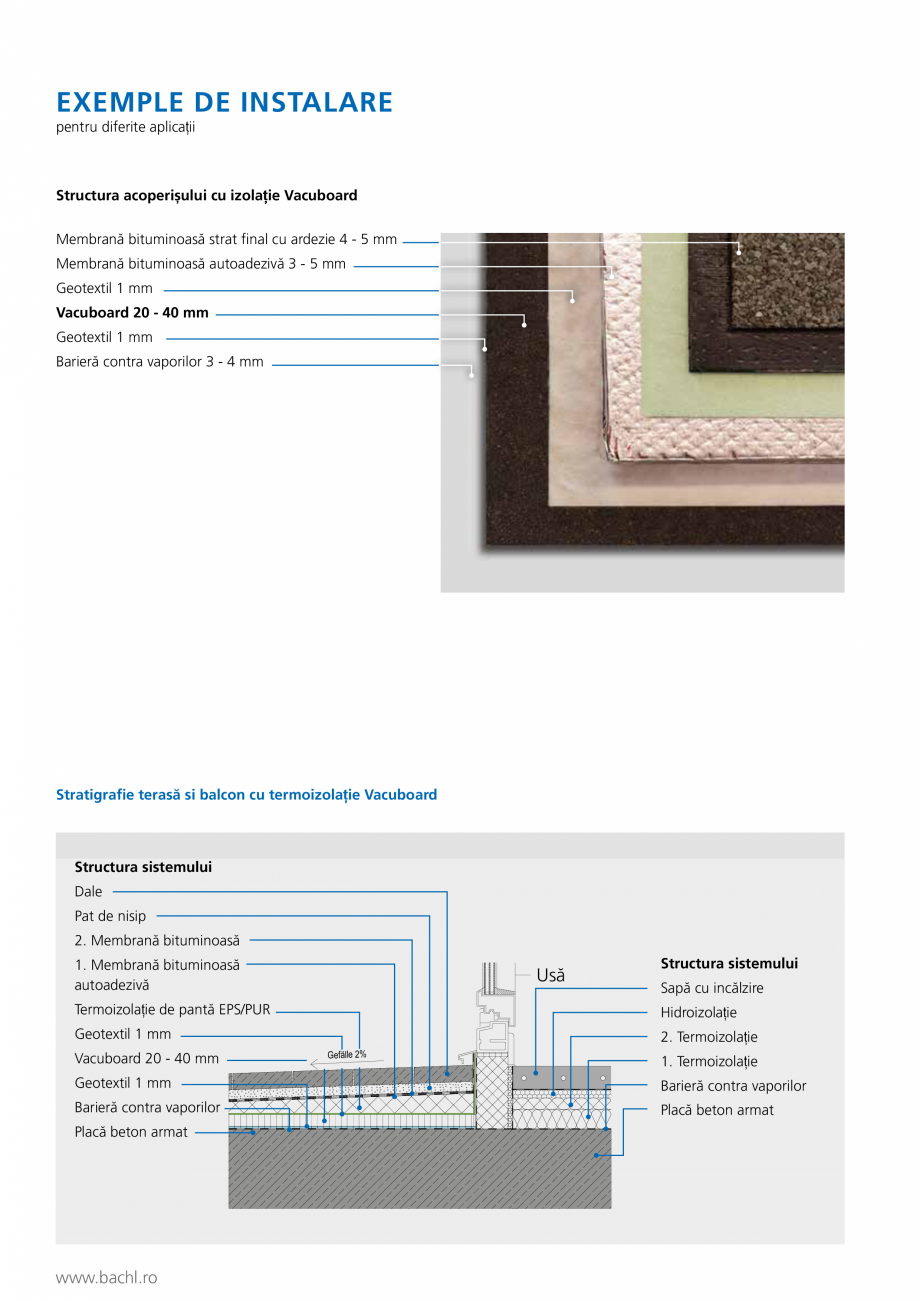 Pagina 3 - Panou de izolare termica BACHL Vacuboard Fisa tehnica Romana ructura sistemului Dale Pat ...