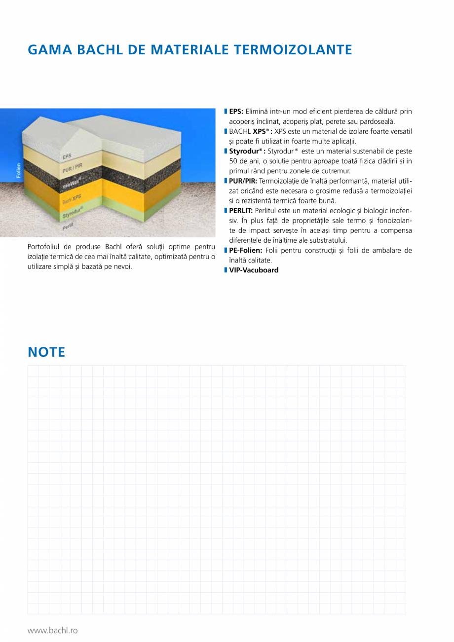 Pagina 5 - Panou de izolare termica BACHL Vacuboard Fisa tehnica Romana nofensiv. În plus față de...