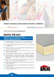 Placi termoizolante rigide din poliuretan BACHL - PIR ALU