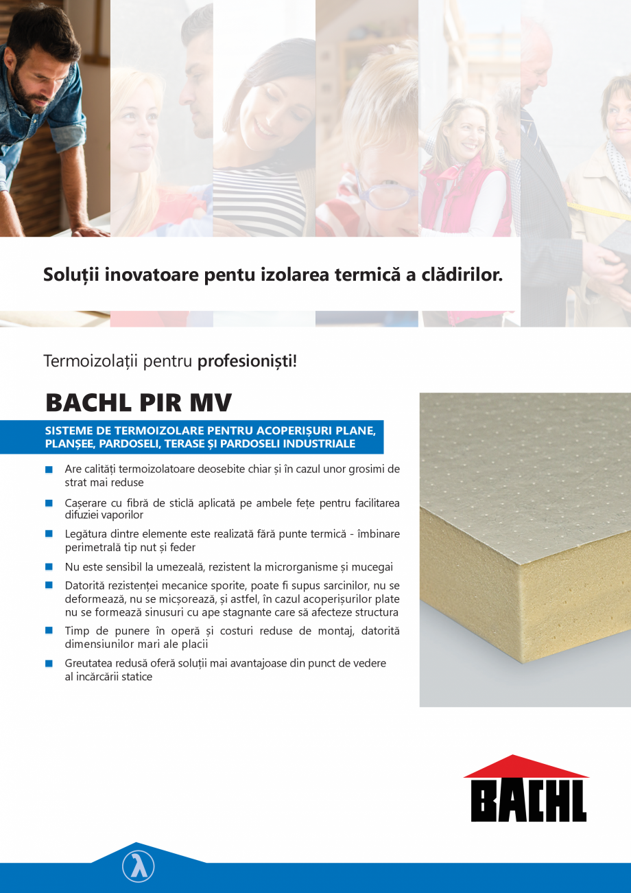 Pagina 1 - Placi termoizolante rigide din poliuretan BACHL PIR MV Fisa tehnica Romana Soluții...