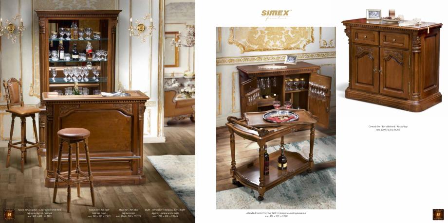 Pagina 9 - Mobilier din lemn masiv pentru camere de zi CASA MOBILA SIMEX Cristina, Royal, Venetia...