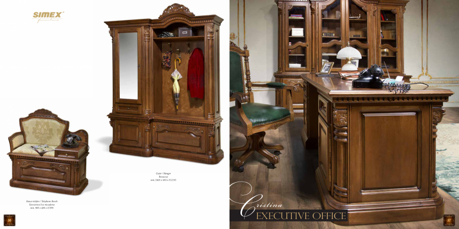 Pagina 10 - Mobilier din lemn masiv pentru camere de zi CASA MOBILA SIMEX Cristina, Royal, Venetia...