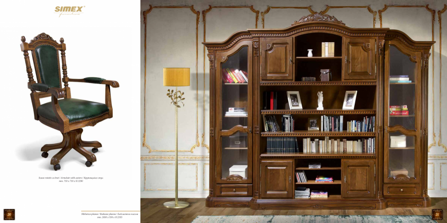 Pagina 12 - Mobilier din lemn masiv pentru camere de zi CASA MOBILA SIMEX Cristina, Royal, Venetia...