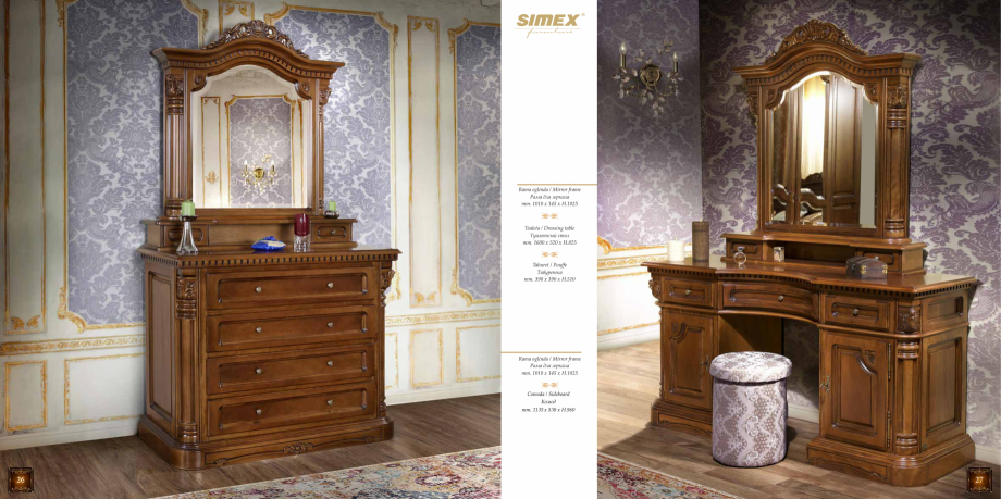 Pagina 15 - Mobilier din lemn masiv pentru camere de zi CASA MOBILA SIMEX Cristina, Royal, Venetia...