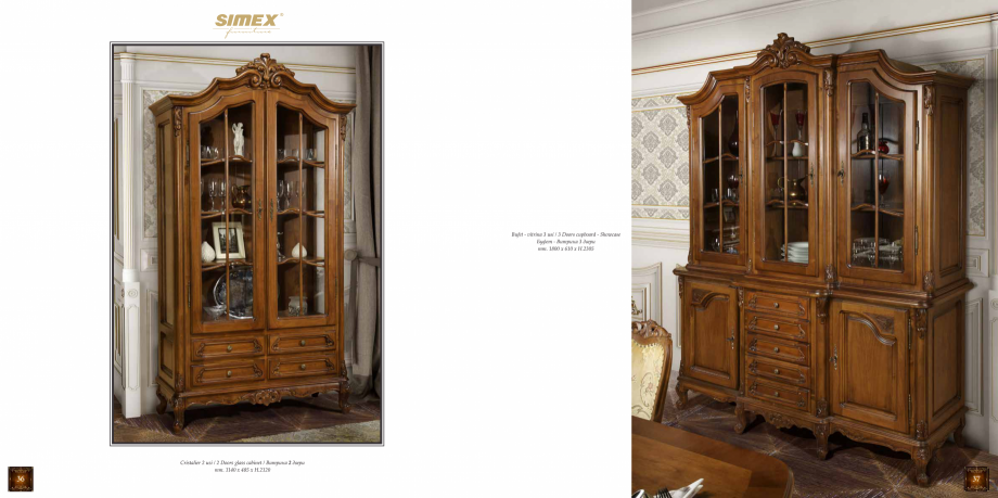 Pagina 20 - Mobilier din lemn masiv pentru camere de zi CASA MOBILA SIMEX Cristina, Royal, Venetia...
