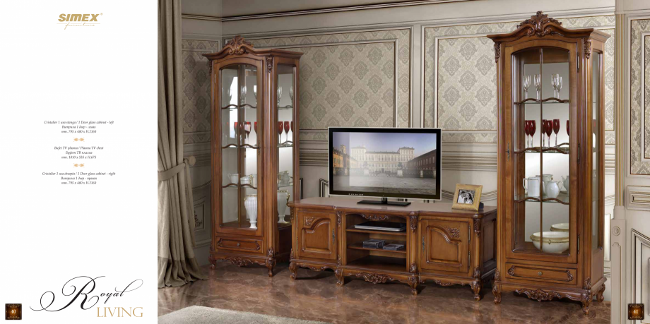 Pagina 22 - Mobilier din lemn masiv pentru camere de zi CASA MOBILA SIMEX Cristina, Royal, Venetia...