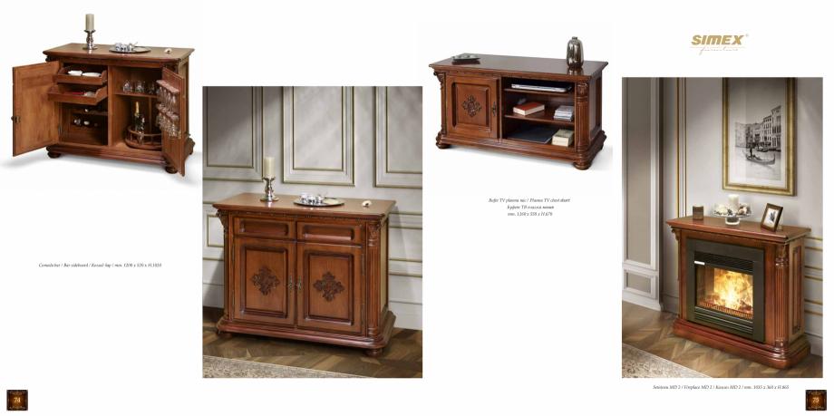 Pagina 39 - Mobilier din lemn masiv pentru camere de zi CASA MOBILA SIMEX Cristina, Royal, Venetia...