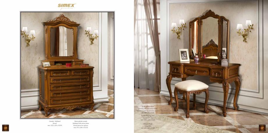Pagina 60 - Mobilier din lemn masiv pentru camere de zi CASA MOBILA SIMEX Cristina, Royal, Venetia...
