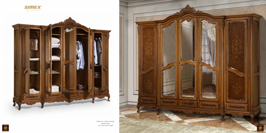 Pagina 61 - Mobilier din lemn masiv pentru camere de zi CASA MOBILA SIMEX Cristina, Royal, Venetia...