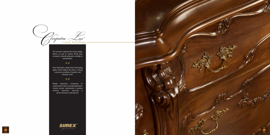 Pagina 62 - Mobilier din lemn masiv pentru camere de zi CASA MOBILA SIMEX Cristina, Royal, Venetia...