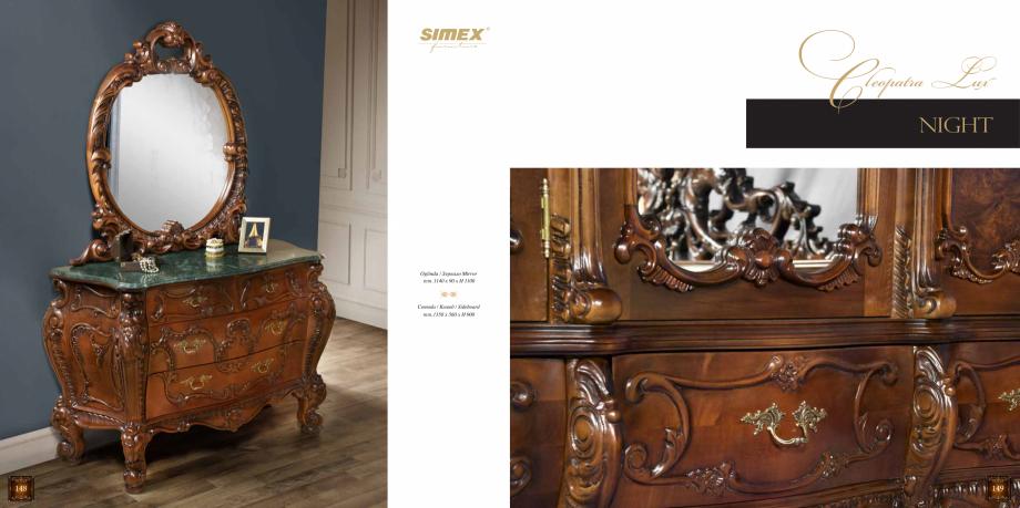Pagina 76 - Mobilier din lemn masiv pentru camere de zi CASA MOBILA SIMEX Cristina, Royal, Venetia...