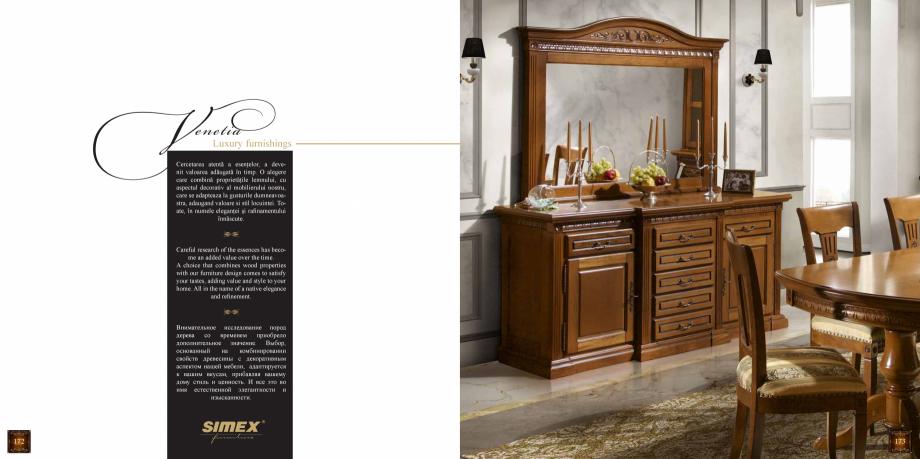 Pagina 88 - Mobilier din lemn masiv pentru camere de zi CASA MOBILA SIMEX Cristina, Royal, Venetia...