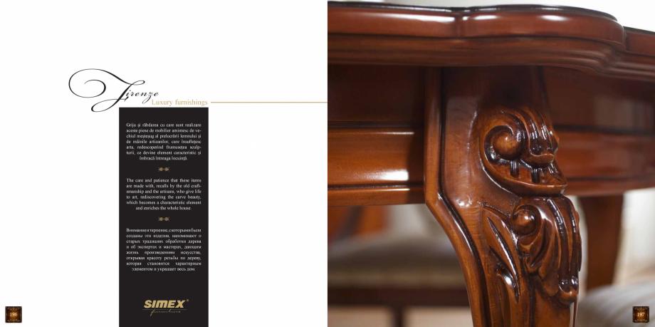 Pagina 100 - Mobilier din lemn masiv pentru camere de zi CASA MOBILA SIMEX Cristina, Royal, Venetia ...