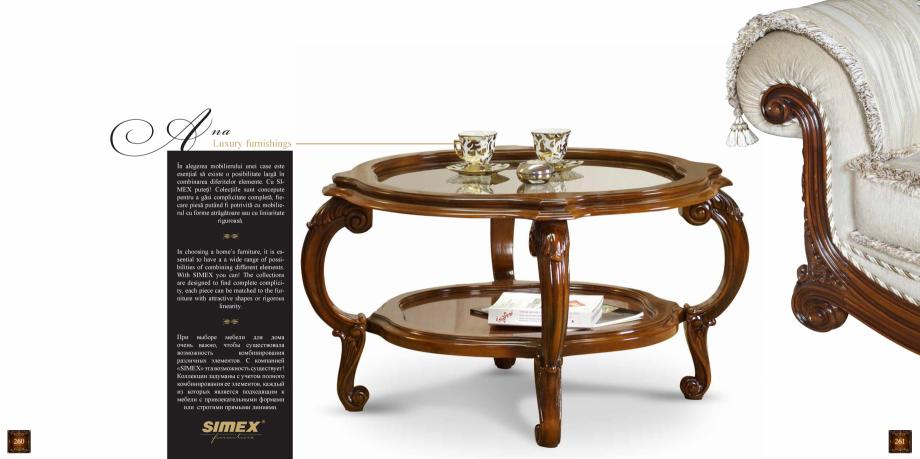 Pagina 132 - Mobilier din lemn masiv pentru camere de zi CASA MOBILA SIMEX Cristina, Royal, Venetia ...