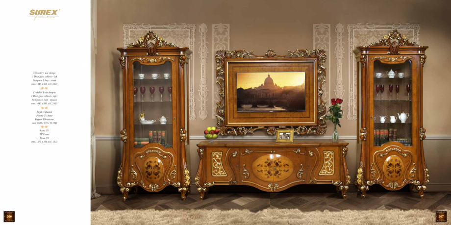 Pagina 135 - Mobilier din lemn masiv pentru camere de zi CASA MOBILA SIMEX Cristina, Royal, Venetia ...