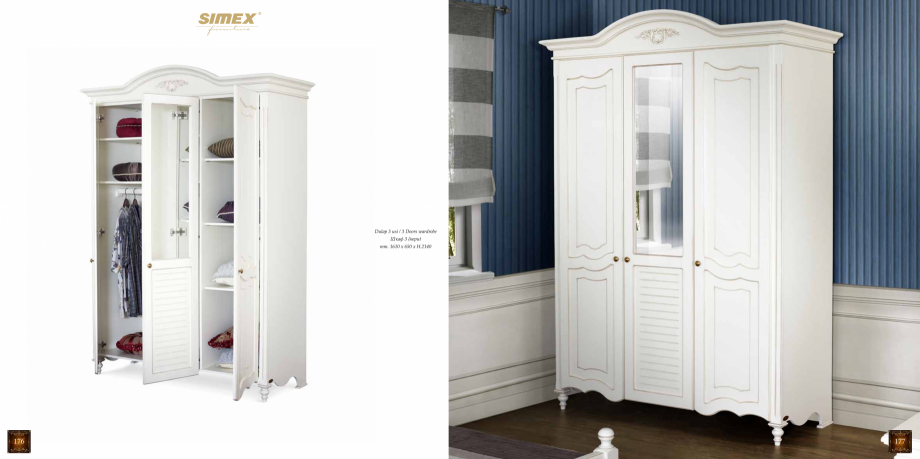 Pagina 140 - Mobilier din lemn masiv pentru camere de zi CASA MOBILA SIMEX Cristina, Royal, Venetia ...