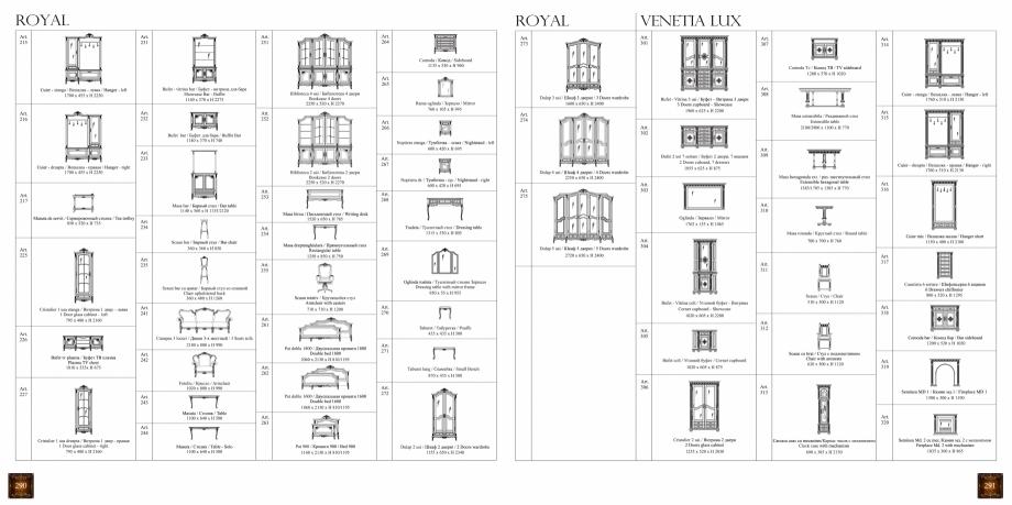 Pagina 147 - Mobilier din lemn masiv pentru camere de zi CASA MOBILA SIMEX Cristina, Royal, Venetia ...