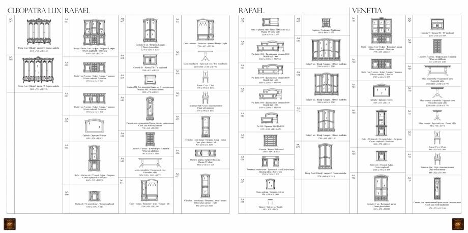Pagina 150 - Mobilier din lemn masiv pentru camere de zi CASA MOBILA SIMEX Cristina, Royal, Venetia ...