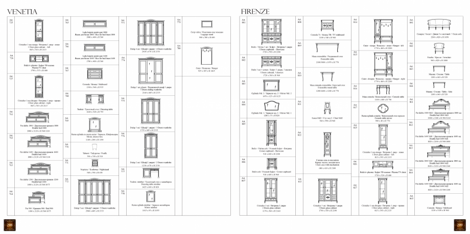 Pagina 151 - Mobilier din lemn masiv pentru camere de zi CASA MOBILA SIMEX Cristina, Royal, Venetia ...