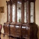 Bufet vitrina lemn masiv Cleopatra Lux