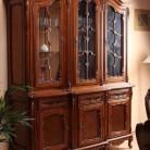 Bufet vitrina 3 usi lemn masiv Cleopatra