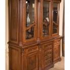 Bufet vitrina 3 usi lemn masiv Venetia Lux