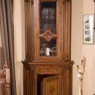 Bufet cu vitrina (colt) lemn masiv Venetia Lux