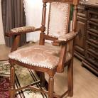 Scaun cu brat lemn masiv Venetia Lux